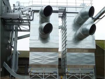 Потокові шахтні зерносушарки AKRON серії Svegma